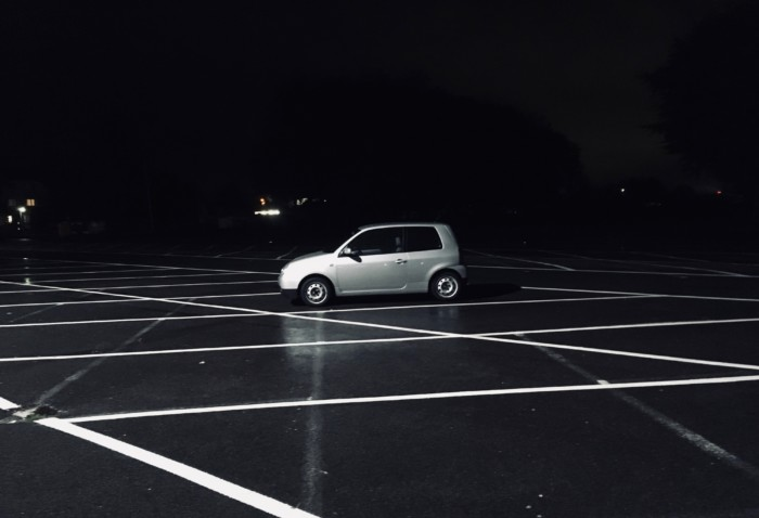 Ein Lupo einsam in der Nacht