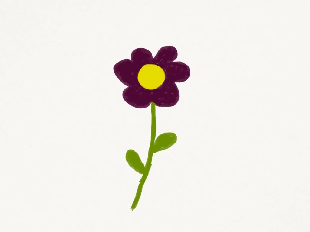 Skizze: Blume (für dich)