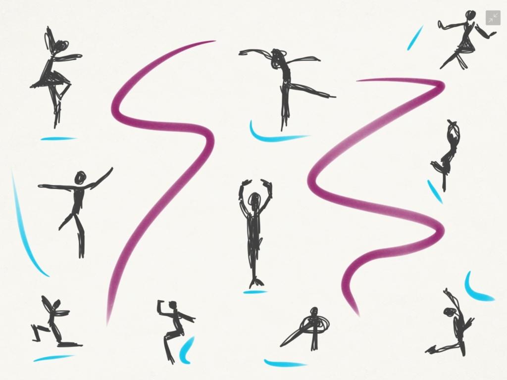 Skizze: Tanzen