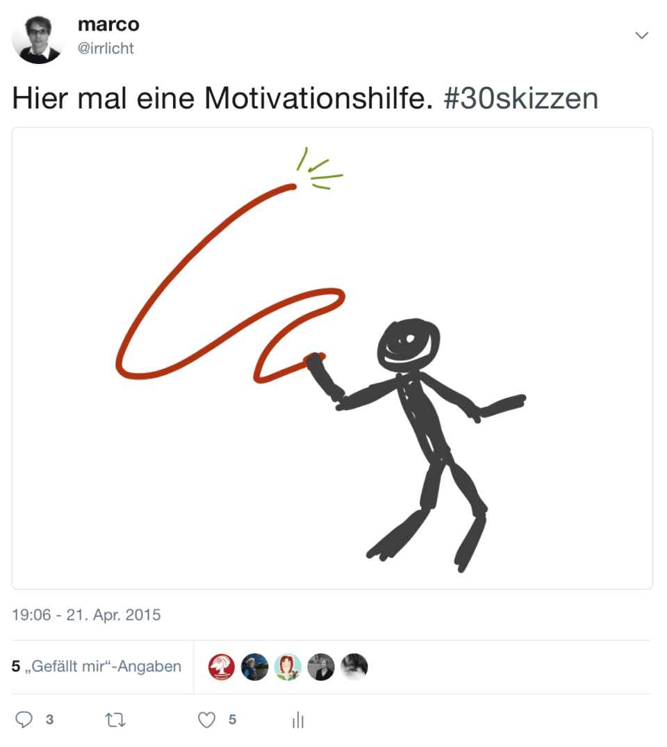 30Skizzen Motivationshilfe