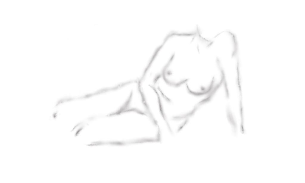 Skizze: Akt (Bleistift)