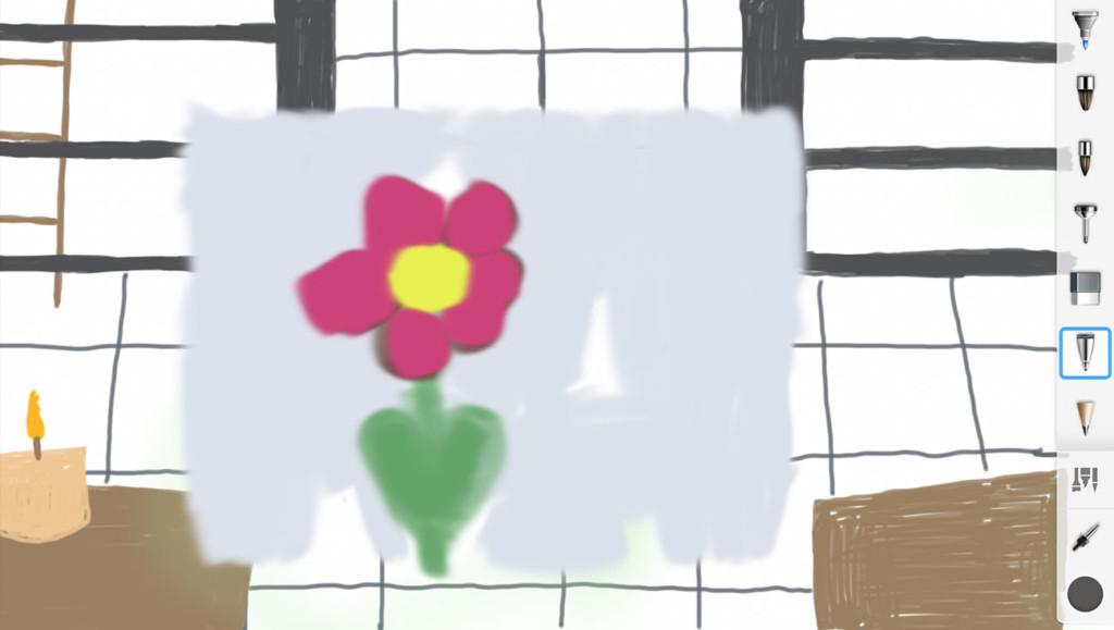 Skizze: Blume