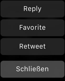 Screenshot: Mögliche Aktionen in einer Benachrichtigung zu einer Mention auf Twitter