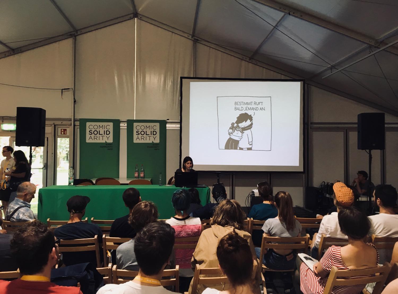 """Comic Salon Erlangen 2018: Comic Lesung """"Neben der Spur"""" mit Valerie Minelli"""