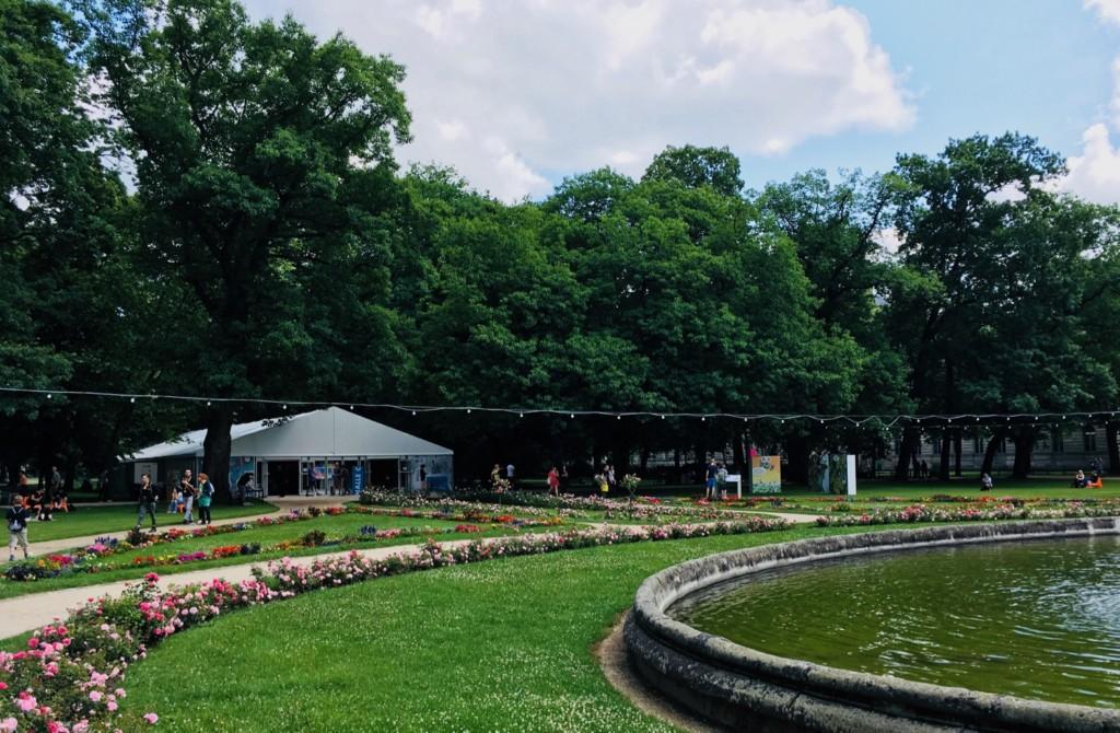 Comic Salon Erlangen 2018: Zelt C im Schlossgarten