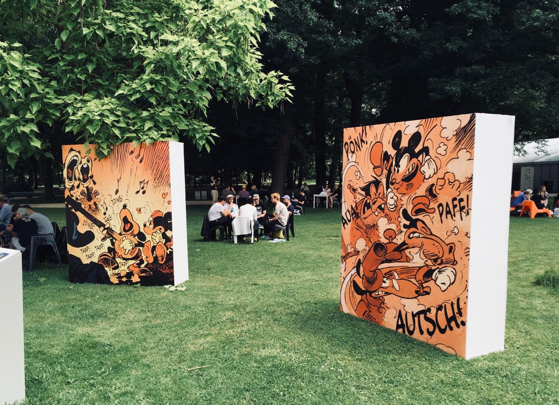 Comic Salon Erlangen 2018: Micky Maus Ausstellung im Schlossgarten