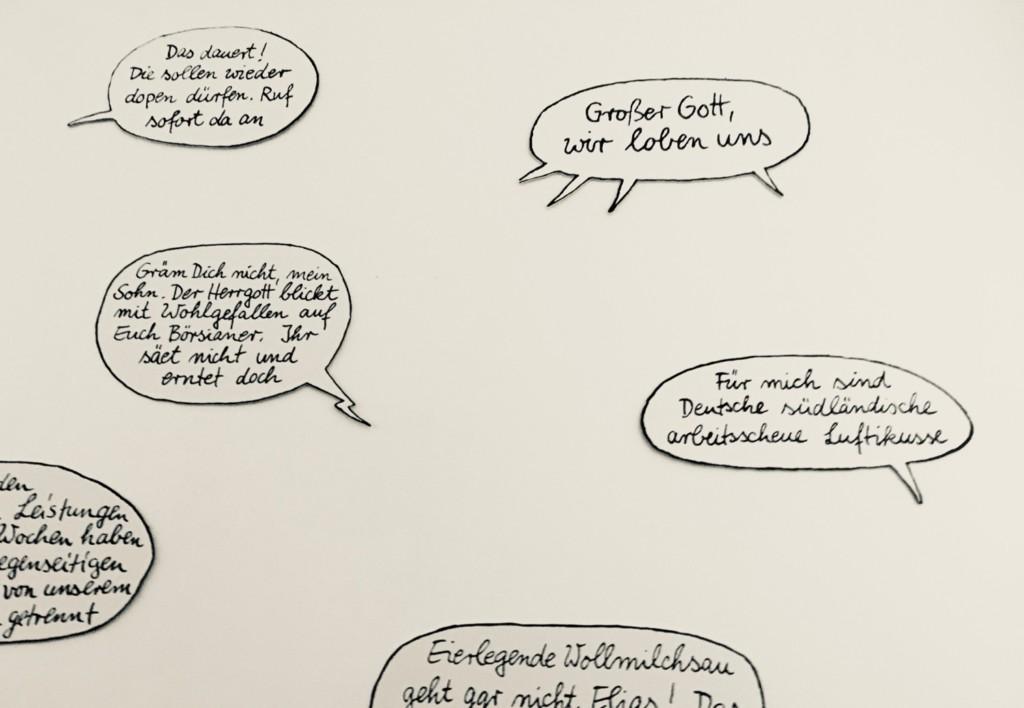 Comic Salon Erlangen 2018: Sprechblasen