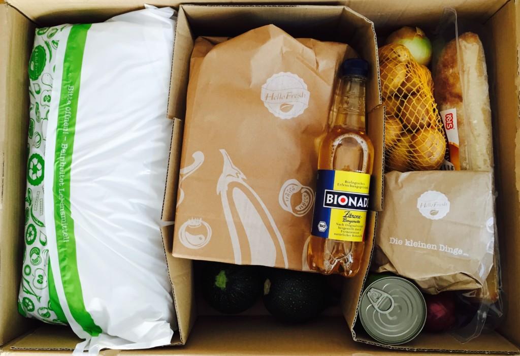 HelloFresh Lebensmittel Box Inhalt