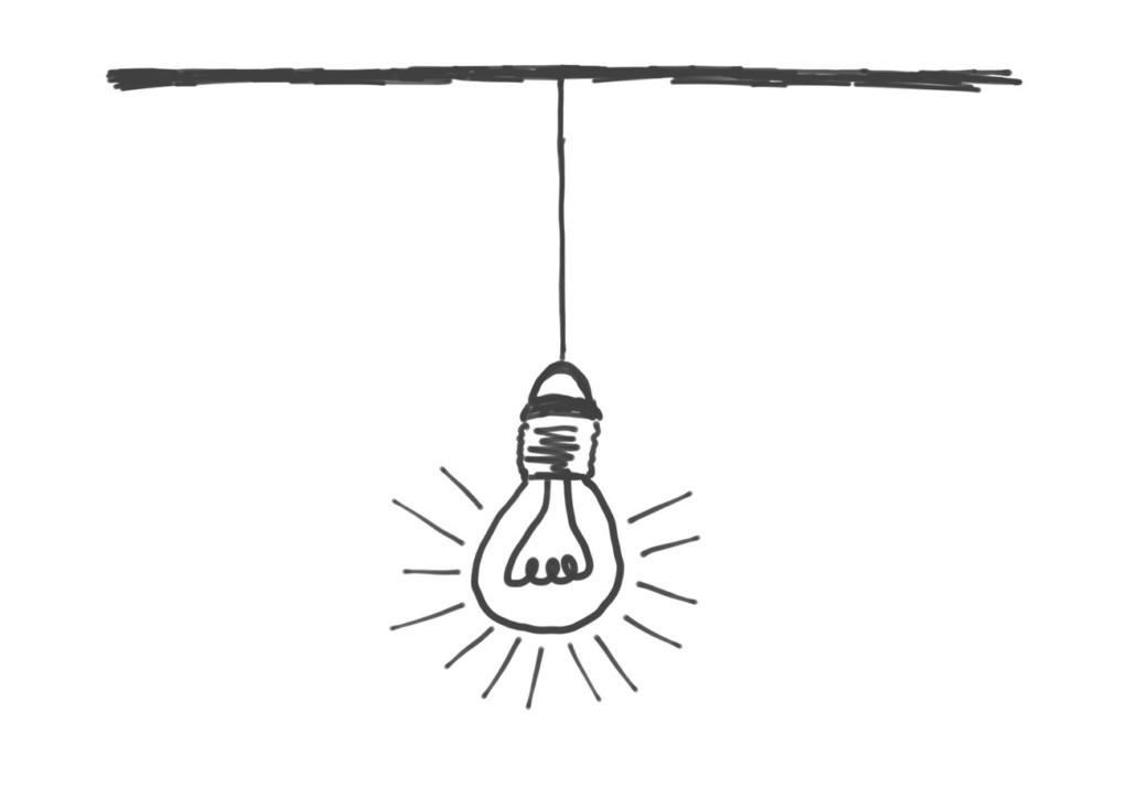 Skizze: Glühbirne