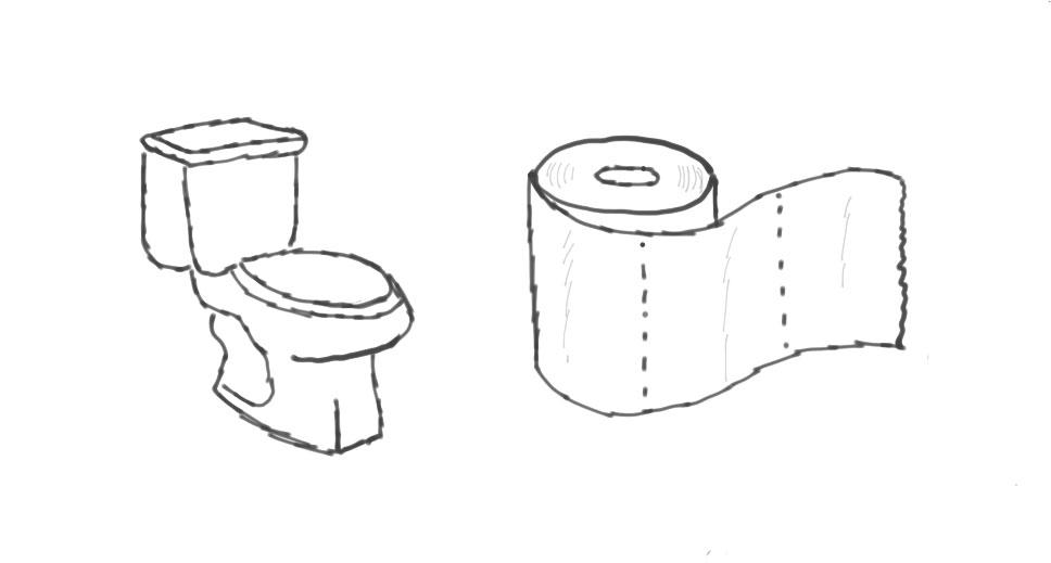 Skizze: Toilette