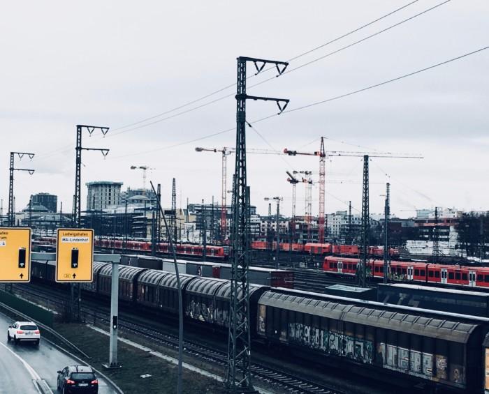 Bahngleise in Mannheim