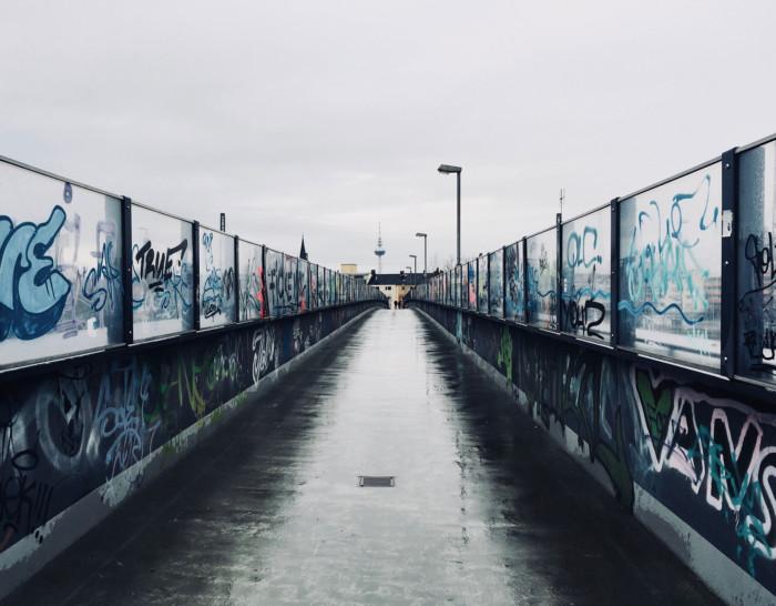 Fussgängerbrücke Mannheim