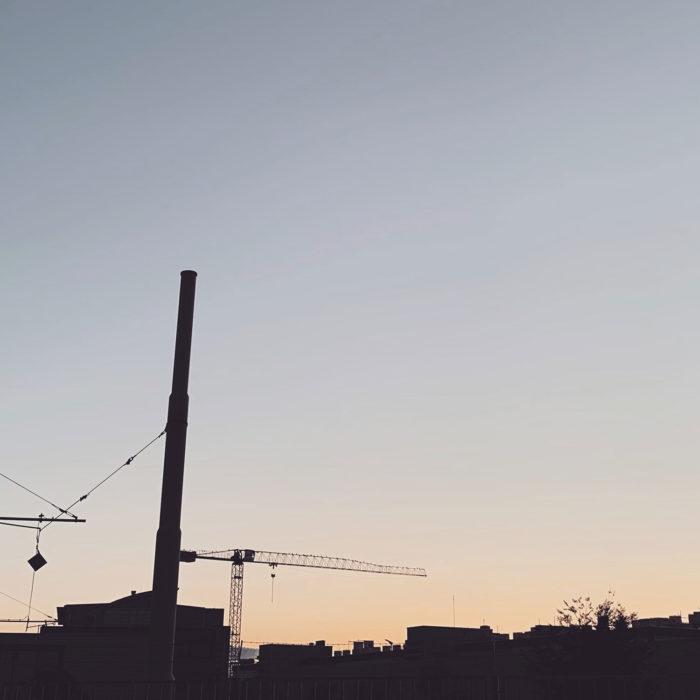 Industriekulisse im Tagesausklang