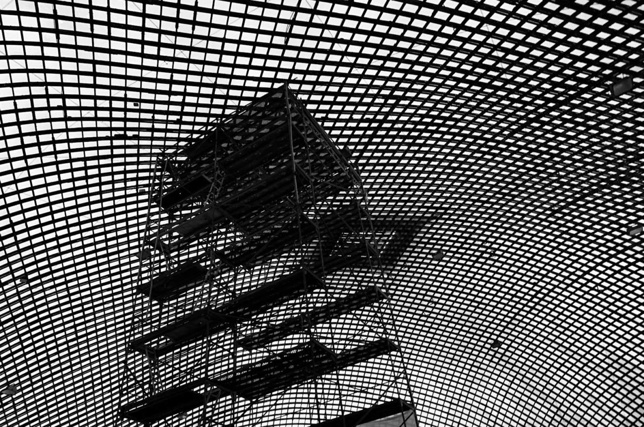 Multihalle Mannheim Baugerüst