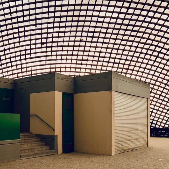 Bungalow in der Multihalle Mannheim