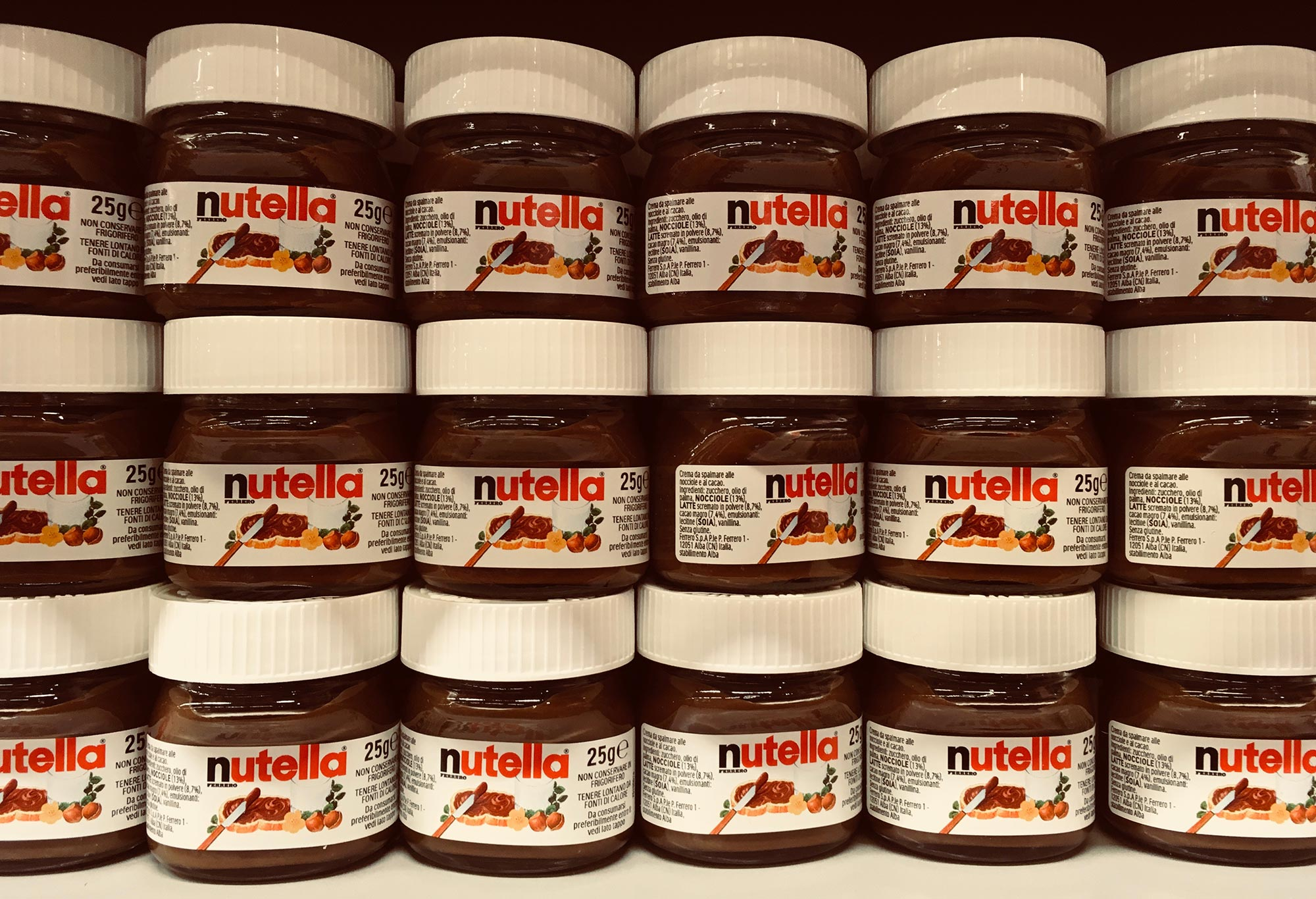Photo: Nutella im Supermarktregal
