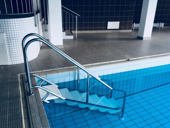 Das private Schwimmbad.