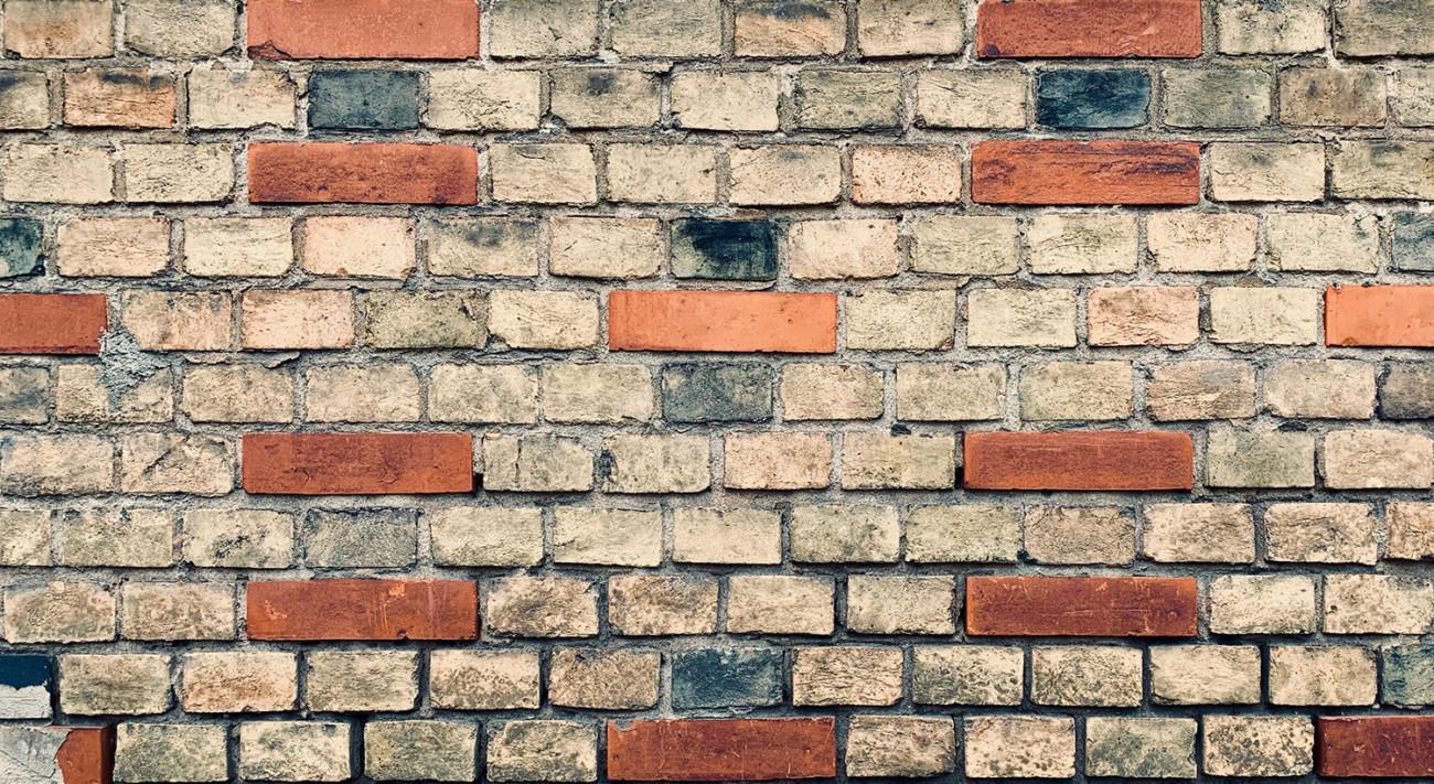 Symetrisches Mauerwerk