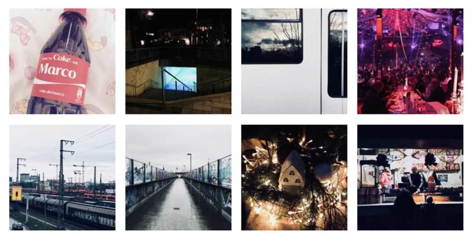 Screenshot: Kachelansicht Instagram on unmus