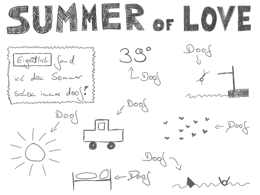 Sommer of Love 1. Panel #sketchnote cc-by