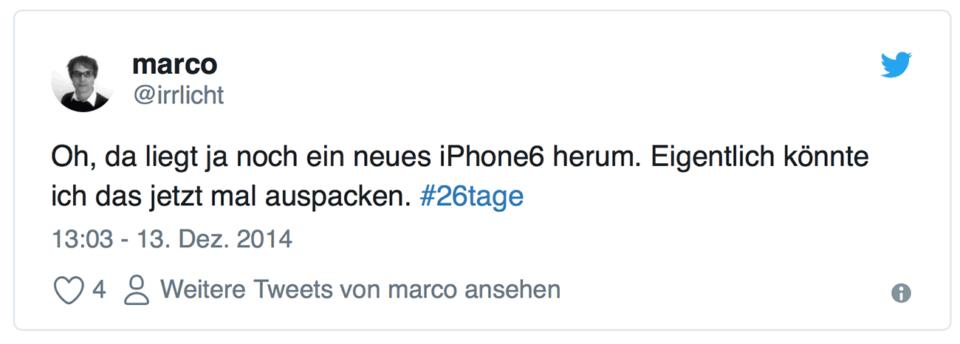 Oh - da liegt ja noch ein iPhone.