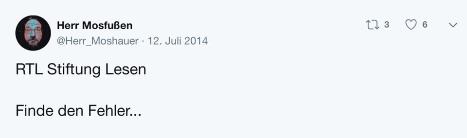 Tweet Schablone Finde den Fehler