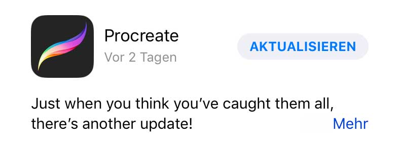 Procreate Update / Yet another update