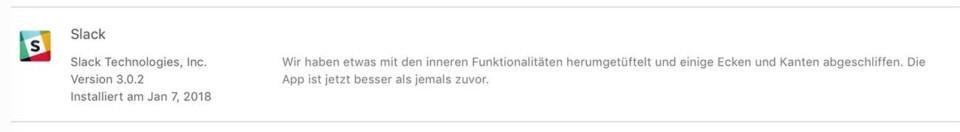 Slack Update / Ecken und Kanten