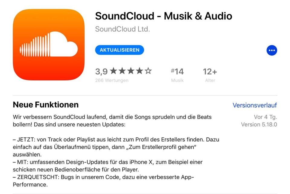 Soundcloud Update / Zerquetscht