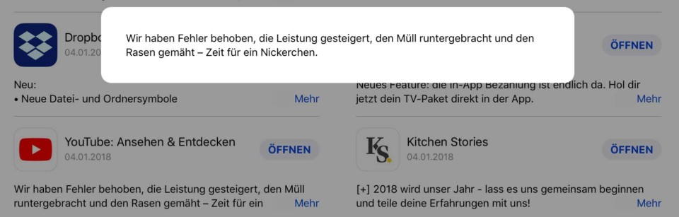 YouTube Update / Müll