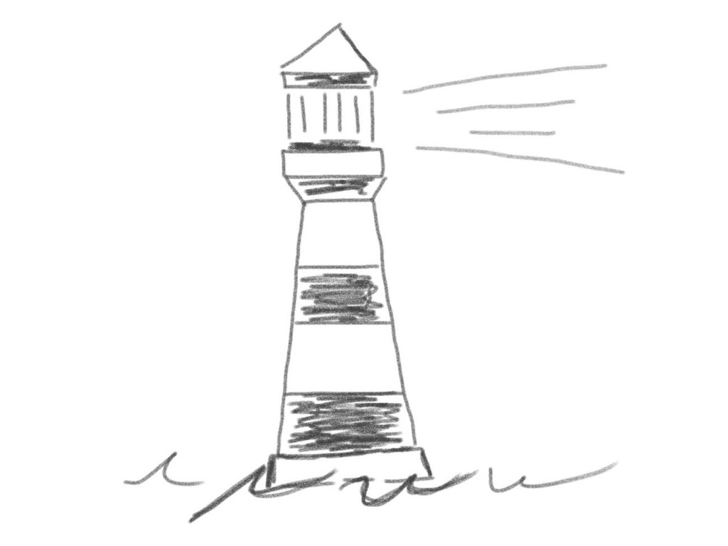Skizze: Leuchtturm