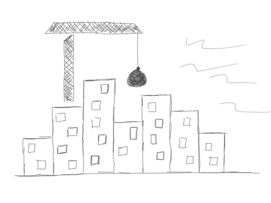 Skizze: Zerstörung