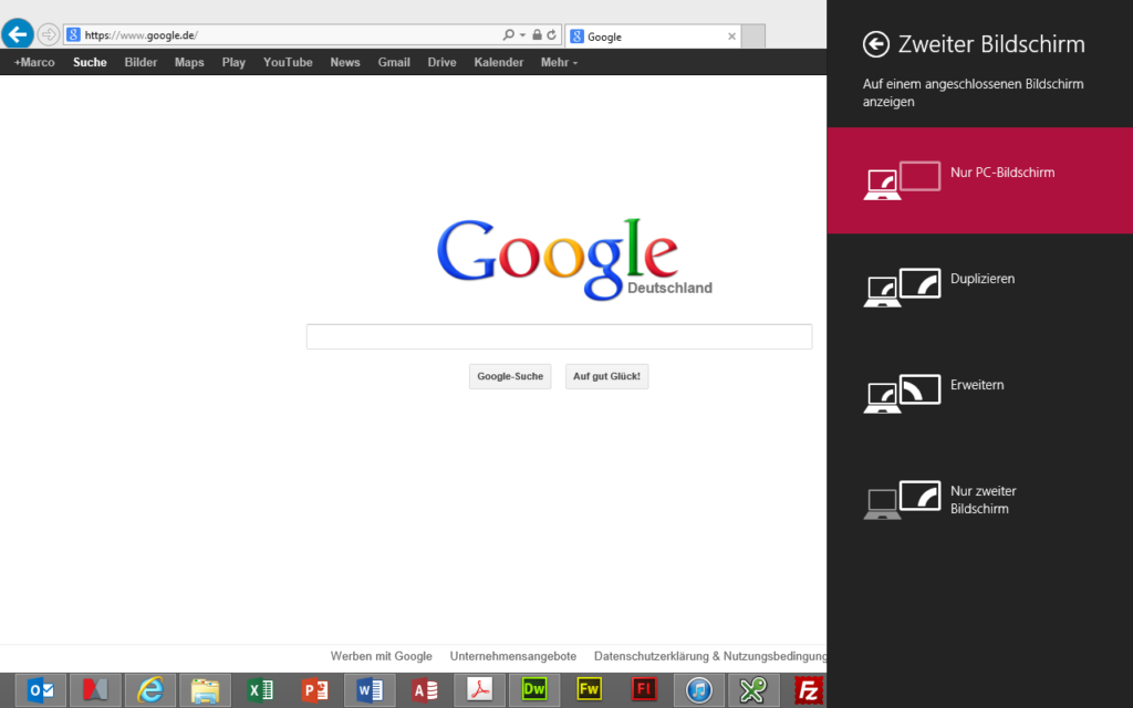 Windows 8 Zweiter Bildschirm
