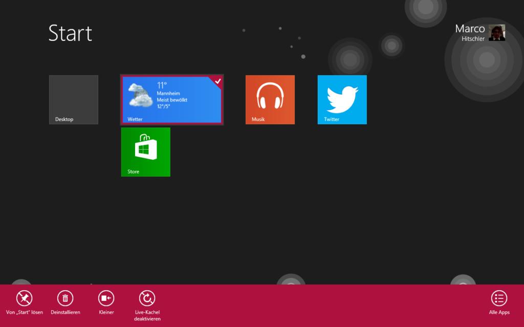 Windows 8 Programme deinstallieren