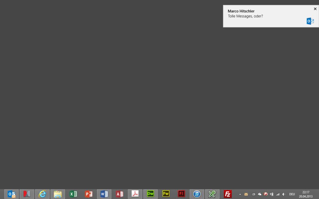 Windows 8 Benachrichtigungen