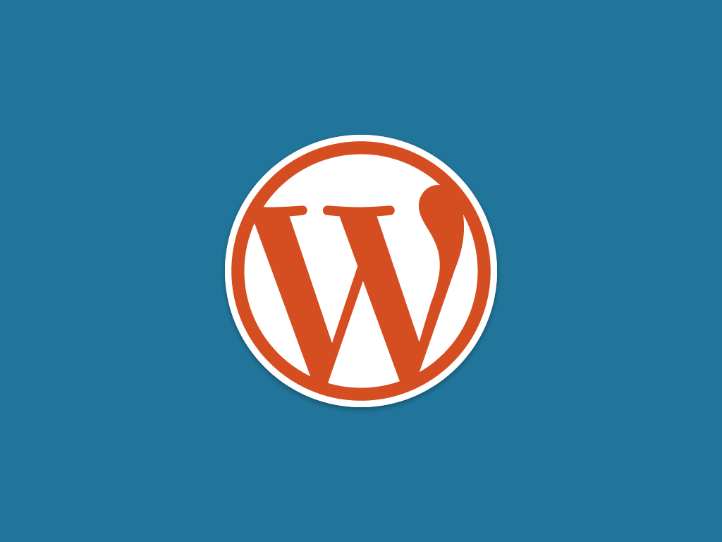 WordPress Logo Official Blue Orange