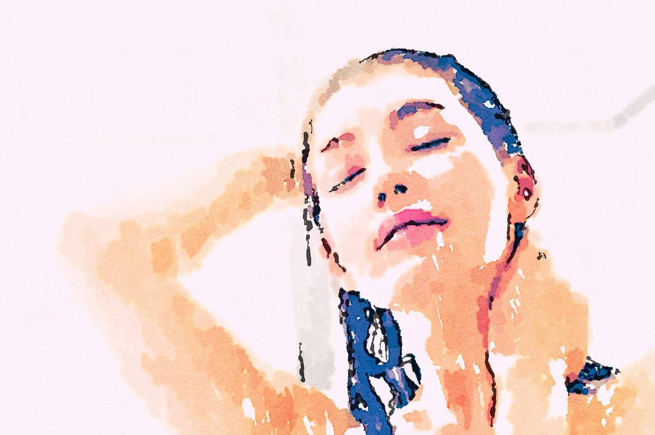 Illustration: Duschen