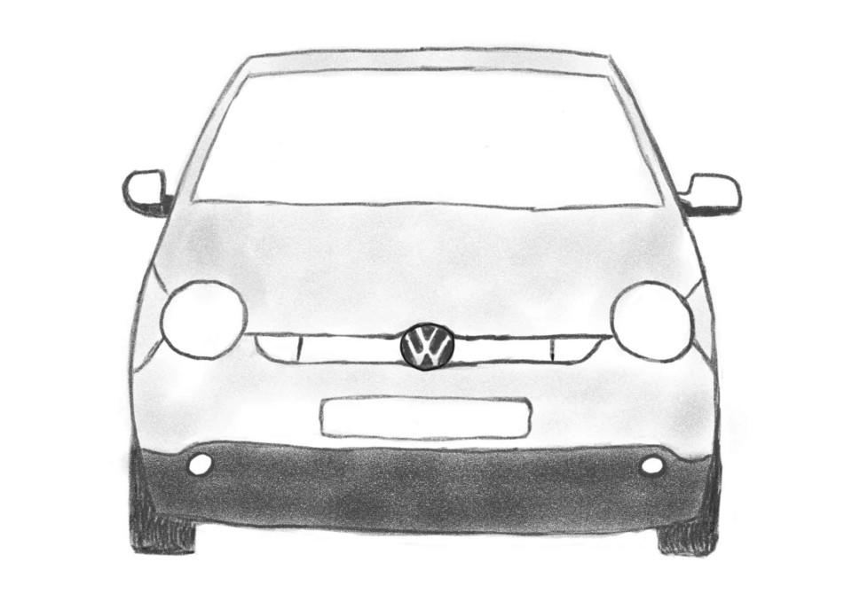 Lupo 3L TDI (Bleistiftzeichnung)