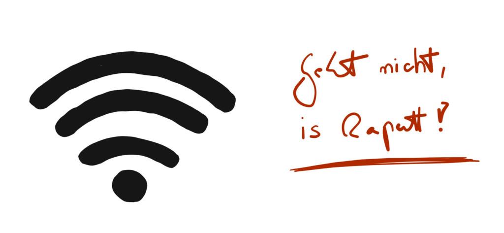 Skizze: Das WLAN geht nicht