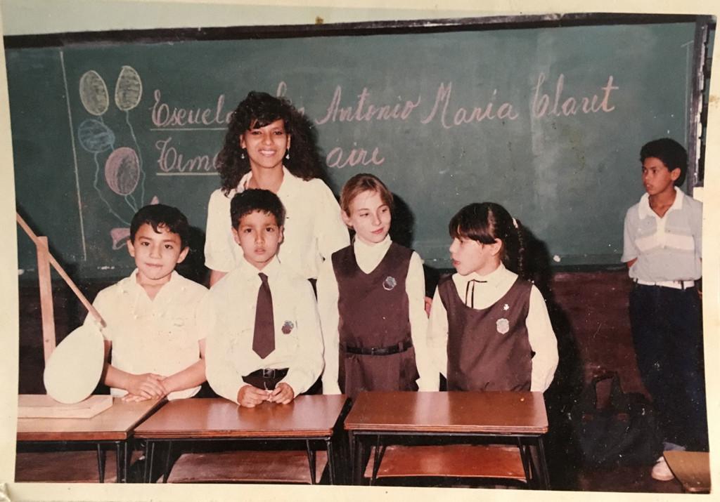 Christina in der Schule